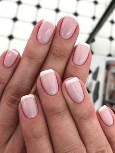 50 Gorgeous French Tip Nail Designs - French manicure nails - French Tip Nail Art, French Tip Nail Designs, French Manicure Nails, Best Nail Art Designs, Short French Nails, French Tips, Perfect Nails, Gorgeous Nails, Cute Nails