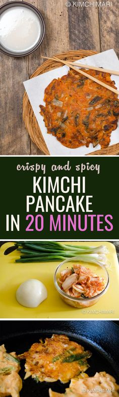 This is an easier version of Kimchi jeon, with simple ingredients and a cooking time of only 20 mins!