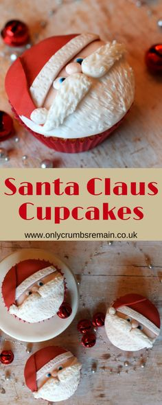 Here is a how to tutorial for making your own Santa Cupcakes with fondant, though you may prefer to call them Santa Claus Cupcakes or even Father Christmas Cupcakes.  They're easy to do and are perfect party food.e u
