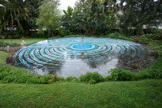 Labyrinth at Saint Columba Church, Grey Lynn, Auckland New Zealand
