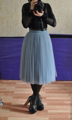 Купить Юбка - пачка - юбка пачка серая, юбка-пачка дымчатая, юбка- пачка монохромная
