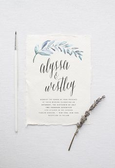 Organic Wedding Invitation Suite DEPOSIT, DIY, Rustic, Calligraphy, Bohemian, Garden, Custom, Watercolor, Outdoorsy (Wedding Design #81) by SplashOfSilver on Etsy https://www.etsy.com/listing/387516162/organic-wedding-invitation-suite-deposit