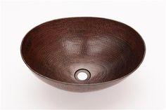 Espeso Oval Vessel Sink - CopperSinksOnline ,Price: $195.00, From www.coppersinksonline.com