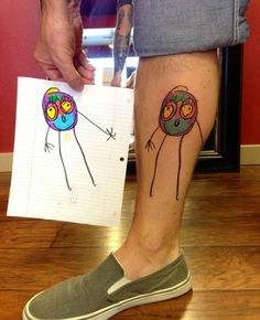 We love our kids, and we love tattoos, so why not combine them? If you& at a loss for inspiring tattoo ideas, we got 15 of the most awesome tattoo ideas for parents. Check them out! Tattoo Parents, Parent Tattoos, Dad Tattoos, Tattoos For Kids, Tattoos For Women Small, Body Art Tattoos, Cool Tattoos, Tatoos, Kintsugi
