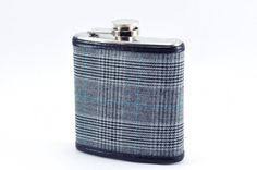 Vintage Suiting Wrapped FLASK  6oz by KeelanRogue on Etsy