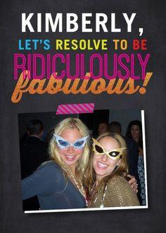 Fabulous Resolve - New Year Greeting Card in Flint   Magnolia Press