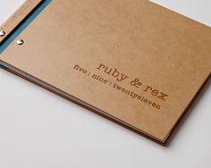 custom wedding guest book wood engagement anniversary rustic bridal shower // modern personalized. $70.00, via Etsy.