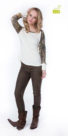 #New Realtree Girl Taylor Camo Shirt $18.99  #Realtreegirl