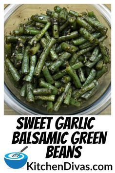 Sweet Garlic Balsamic Green Beans This Sweet Garlic Balsamic Green Beans recipe you have to try The honey blends so well with the balsamic vinegar and garlic Absolutely d. Pastas Recipes, Side Dish Recipes, Veggie Recipes, Vegetarian Recipes, Dinner Recipes, Cooking Recipes, Healthy Recipes, Beans Recipes, Canned Green Bean Recipes