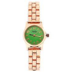 Reflex Ladies Analogue Green Dial & Rose Tone Metal Bracelet Strap Watch LB112 Modern Watches, Cool Watches, Metal Bracelets, Women Brands, Fashion Watches, Gold Watch, Bracelet Watch, Gifts For Her, Rose