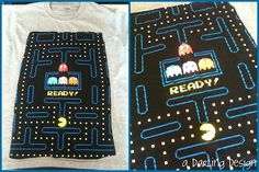 """gray pac-man up-cycled kids t-shirt   SOLD          please do not remove """"a darling design"""" or repost as your own"""