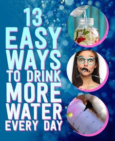 It's always important to keep hydrated, but sometimes we forget to drink. Here are 13 easy ways to help you drink more water everyday. Great advise to stay fresh and healthy Healthy Drinks, Healthy Tips, How To Stay Healthy, Detox Drinks, Healthy Snacks, Health And Beauty, Health And Wellness, Health Fitness, Lose Weight
