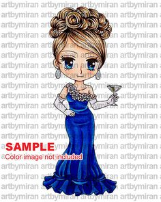 Digital Stamp  Lady Penelope147  Digi Stamp Coloring by artbymiran