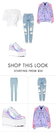 """""""Untitled #1"""" by shareeallen ❤ liked on Polyvore featuring Armani Jeans, Topshop, Y.R.U. and T By Alexander Wang"""