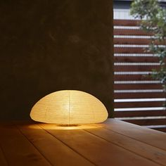 Described like the unfolding of a precious silk, the unwrapping of an Asano Paper Moon Table Lamp is a  unique unwrapping experience. http://www.ylighting.com/blog/introducing-asano-lamps/