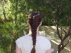 All braided. It's two five-strand dutch braids that combine to one five-strand dutch braid. Braided Hairstyles Tutorials, Easy Hairstyles, Five Strand Braids, Renaissance Hairstyles, Female Images, Braid Styles, Beauty Hacks, Beauty Tips, Dreadlocks