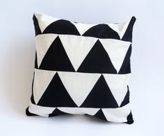12X12 inches  Decorative triangle pillow by GeometricElectric, $29.00