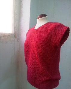 Vintage 80s Crochet Sweater Sleeveless Hot Pink por Laimperdible #Women #Fashion #Vintage
