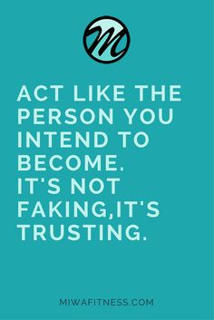 Fake it until you make it psychology