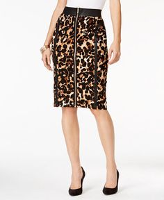 32.99$  Buy here - http://vioez.justgood.pw/vig/item.php?t=yvbkxu29787 - Animal-Print Pencil Skirt, Only at Macy's 32.99$