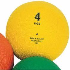 Rubber Medicine Ball, 8.8 lbs.