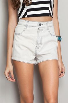 Short hot pants white - Shorts | Dress to