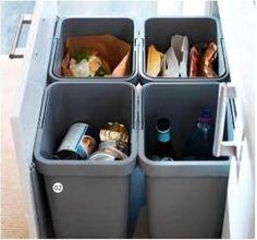 Endlich eine ordentlich integrierte und organisierte Mülltrennung – unser kleiner täglicher Beitrag.