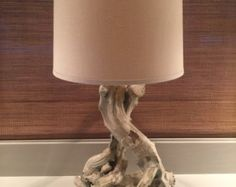 Items similar to Driftwood Lamp Type Sunken Forrest Single Tree on Etsy Driftwood Lamp, Driftwood Projects, Deco Marine, Table Lamps For Bedroom, Rustic Lamps, Wooden Lamp, Crackle Glass, Black Lamps, Beach House Decor