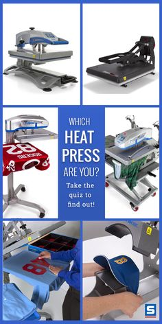 If you were a heat press, which one would you be? Take this short personality quiz to find out!