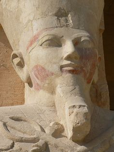 Hatsjepsut - Egyptian queen who ruled as a man, even wearing the traditional beard. She did Chakrasana every day to stay strong according to hieroglyphs