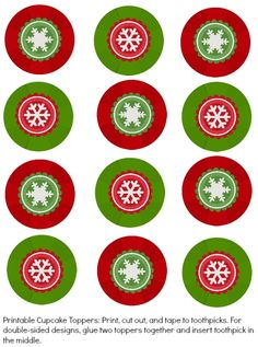 Snowflake gem cupcake toppers you can print and use for FREE - don't buy the expensive Wilton ones!