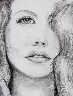 Graphite drawing after a photo taken from a magazine c2001