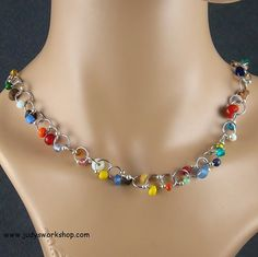 Recycled Chainmaille Necklace by JudysWorkshopdotcom on Etsy