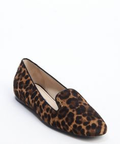34131303f7a6 Prada brown leopard print calf hair slip-on loafers | BLUEFLY Brown  Leopard, Cute
