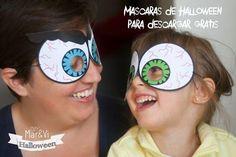 Con las máscaras imprimibles que nos deja MaryVi-Lab no tendréis excusas para no disfrazaros en Halloween. ¿Os animáis?