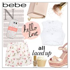 """""""All Laced Up for Spring with bebe: Contest Entry"""" by orietta-rose ❤ liked on Polyvore featuring Givenchy, Bebe, RED Valentino, Casetify, Barry M and alllacedup"""