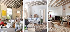 Decorando interiores con vigas de madera