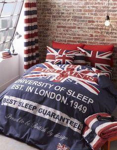 Młodzieżowy design z motywem brytyjskiej flagi.