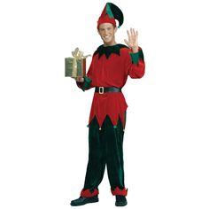 Deluxe Christmas Elf Costume Adult XL in Christmas Elf Costumes | NightmareFactory.com #christmaself