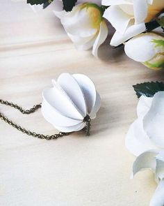 This White Paper Bauble Necklace by Alfieri Jewel Design is part of a Paper Jewelry Round Up. Click through for Part 1.