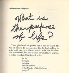 breakfast of champions • kurt vonnegut one of my favorite books.