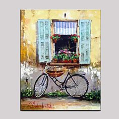 Pictat+manual+Natură+moartă+Orizontal,Mediteranean+Stil+European+Un+Panou+Canava+Hang-pictate+pictură+în+ulei+For+Pagina+de+decorare+–+USD+$+96.52