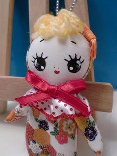 Mini Bunka Doll Golden Japan Flowery by CottonCandyWorkshop