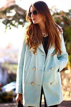 Take inspiration from this and give your winter coat a spring look with China Blue fabric dye from DYLON