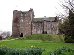 """Doune Castle, Scotland Home of James 1st Lord Doune Stewart and Mady Margaret Campbell parents of Lord James 2nd Lord Doune and 2nd Earl of Moray - """"The Bonnie Earl of """" MorayStewart."""