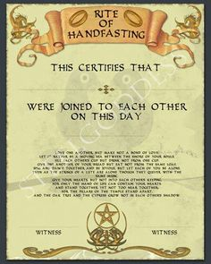 Handfasting Wiccan Wedding Viking Celtic Altars Mario Witchcraft