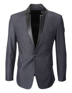 FLATSEVEN Mens Slim Fit Leather Lapel Blazer Jacket Denim (BJ216), Boys L FLATSEVEN http://www.amazon.com/dp/B00HJ50R5M/ref=cm_sw_r_pi_dp_vTolub0NR64A8