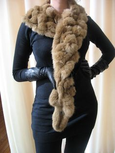 Classic black leather gloves fall fashion 2013 fur scarf. Even if its faux fur (which I prefer).