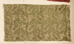 Fragment Date: 16th century Culture: Italian Medium: Silk Classification: Textiles-Velvets Accession Number: 2002.494.110