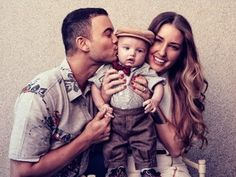 Guy Sebastian Poses With Baby Hudson and wife Jules